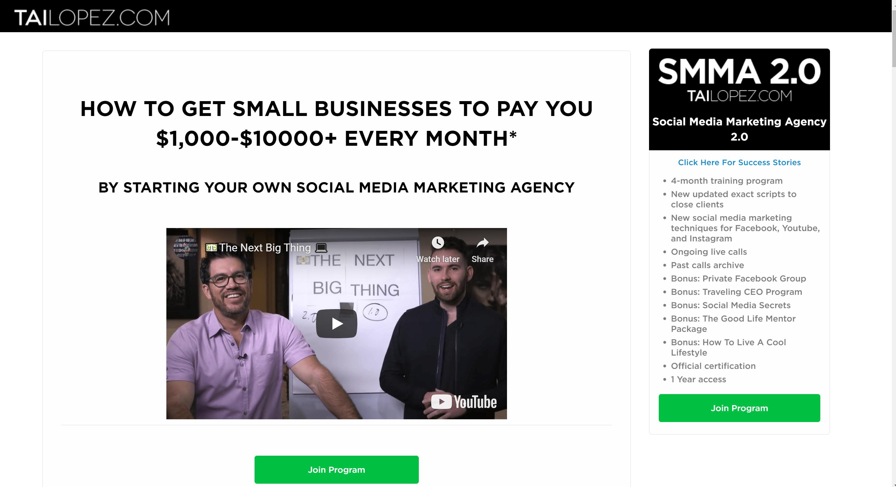 tai lopez social media course