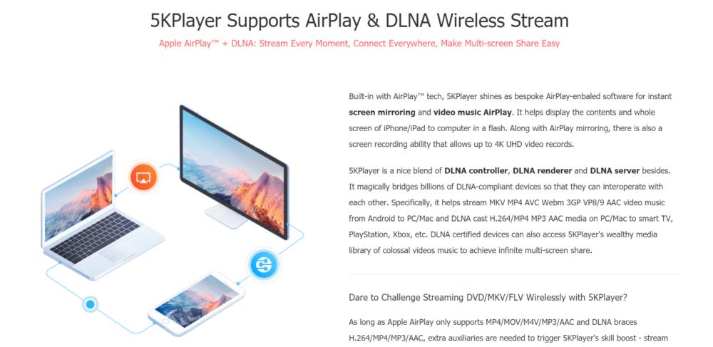 5KPlayer Wireless Stream
