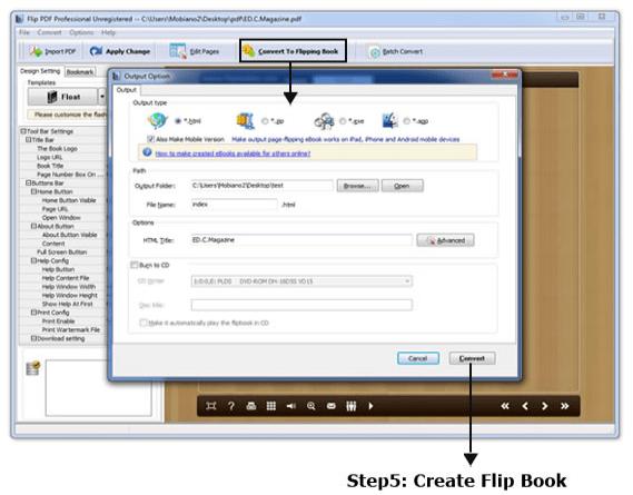 Flip PDF Professional - Crete Flip book