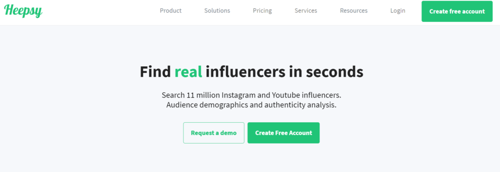 Heepsy Find Real Influencers