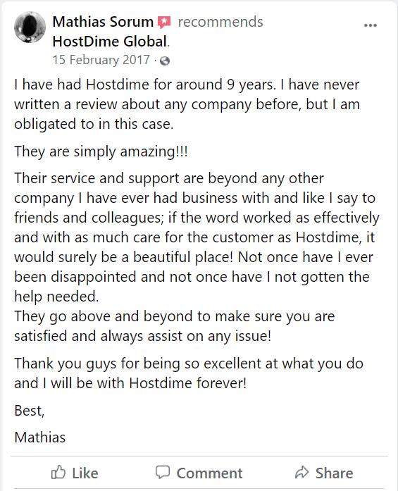 HostDime review