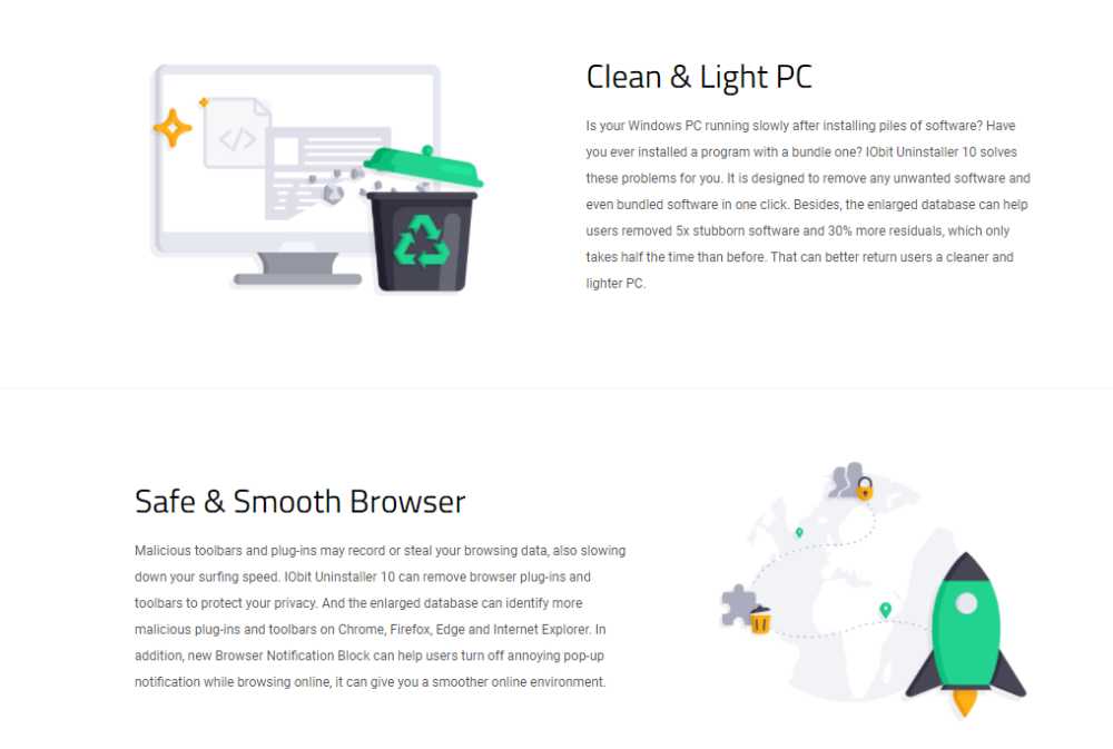 IObit Uninstaller Pro Clean and light