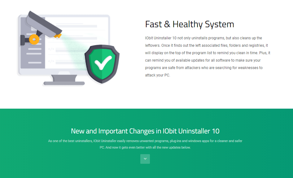 IObit Uninstaller Pro Healthy System