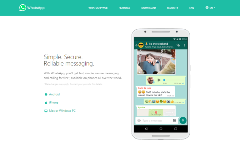 WhatsApp Messaging app
