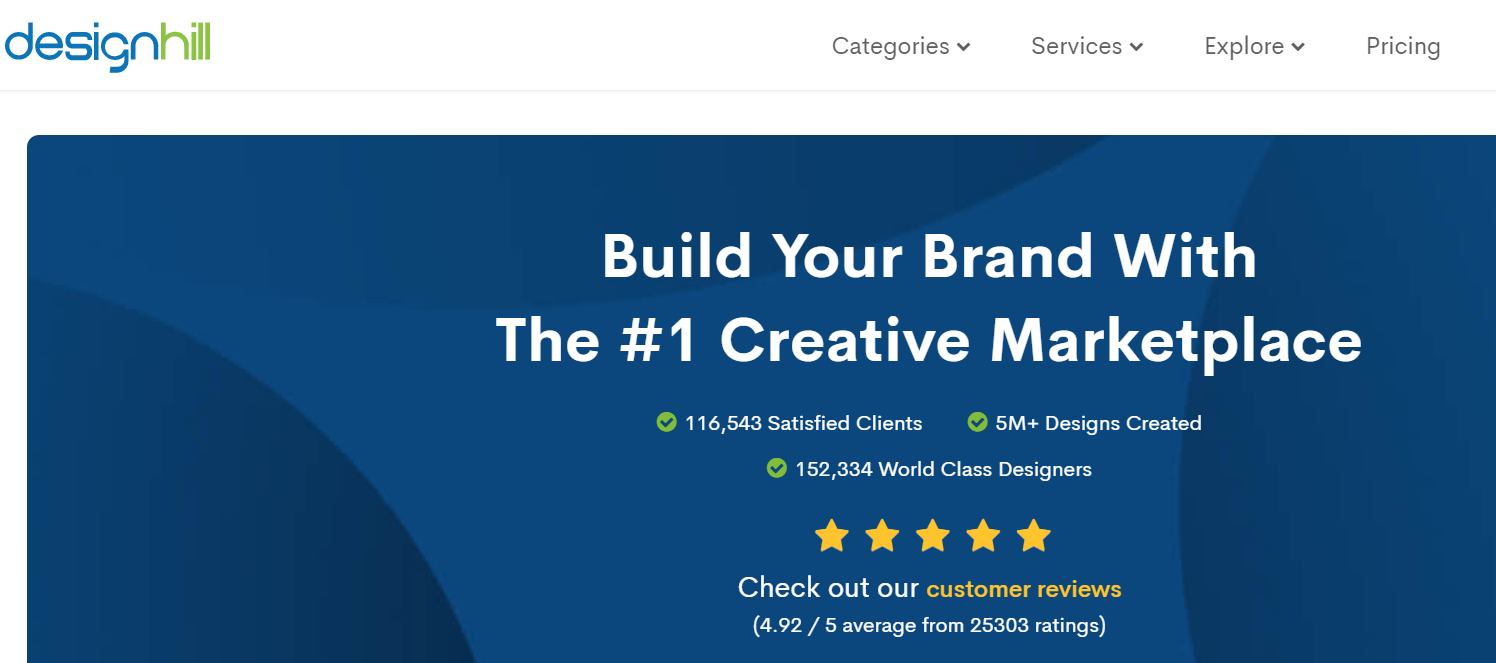 Best Logo Design Websites-designhill review