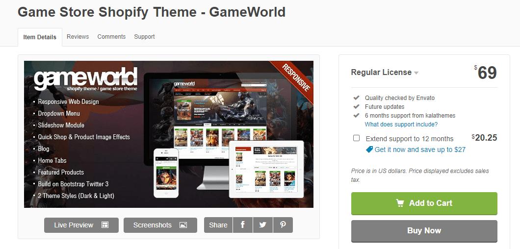 gameworld- game store shopify theme