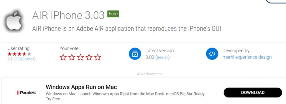 iOS Emulators Air iPhone