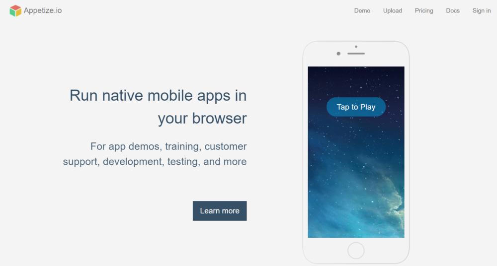 iOS Emulators Appetixe.io