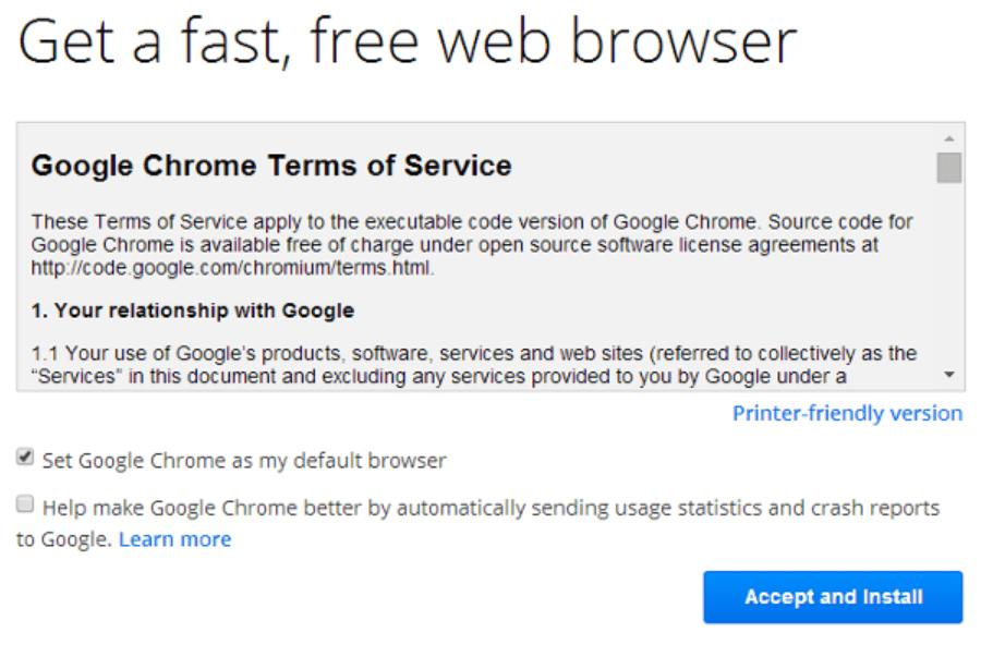 Setup Chromecast on Windows 7 Free Browser