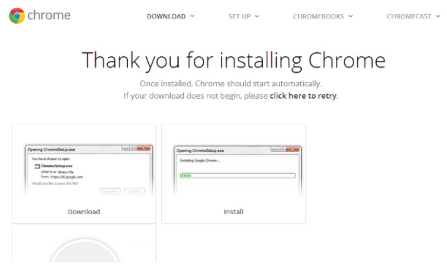 Setup Chromecast on Windows 7 Installation