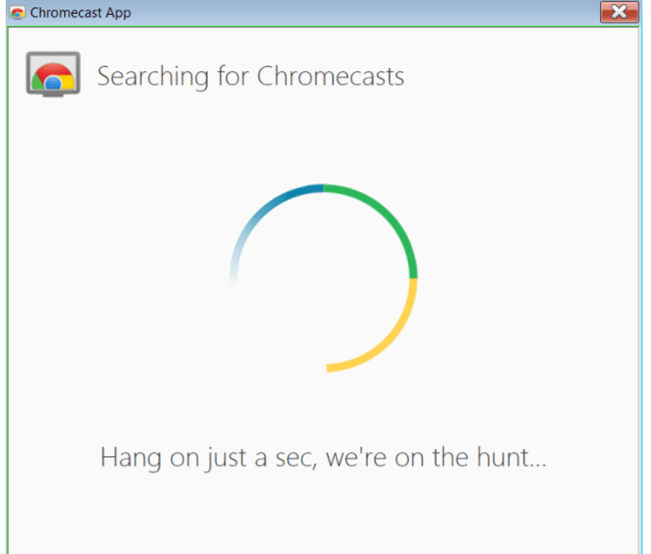 Searching for Chromecasts