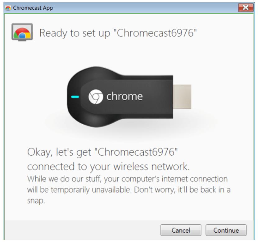 Ready to setup Chromecast