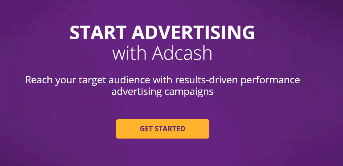 start advertising with adcash