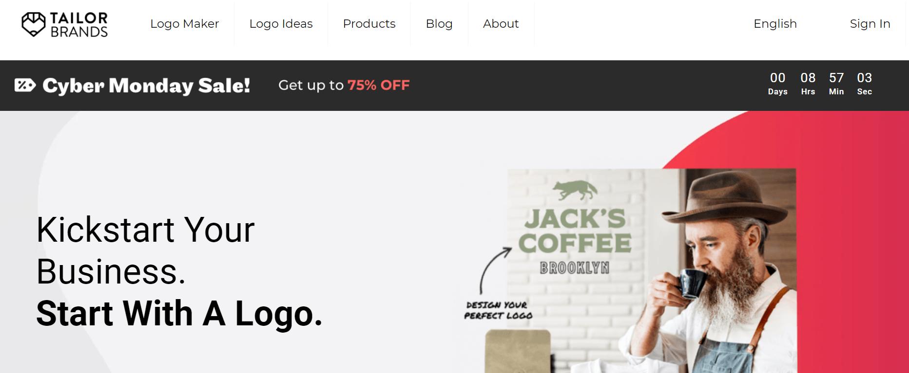 tailor brands review- Best Logo Design Websites