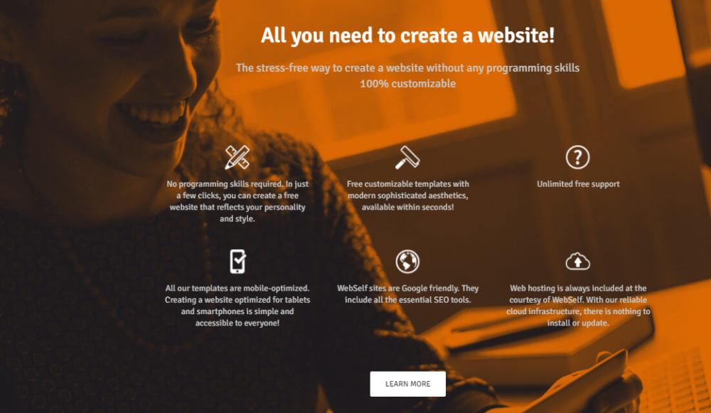 WebSelf Tools to create Website