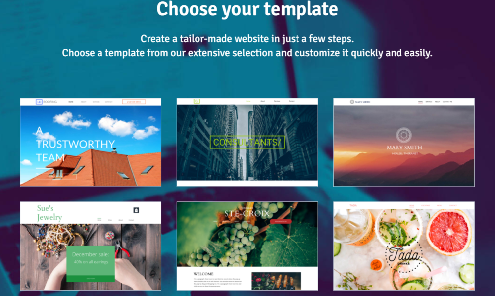 WebSelf Choose Your Tamplate