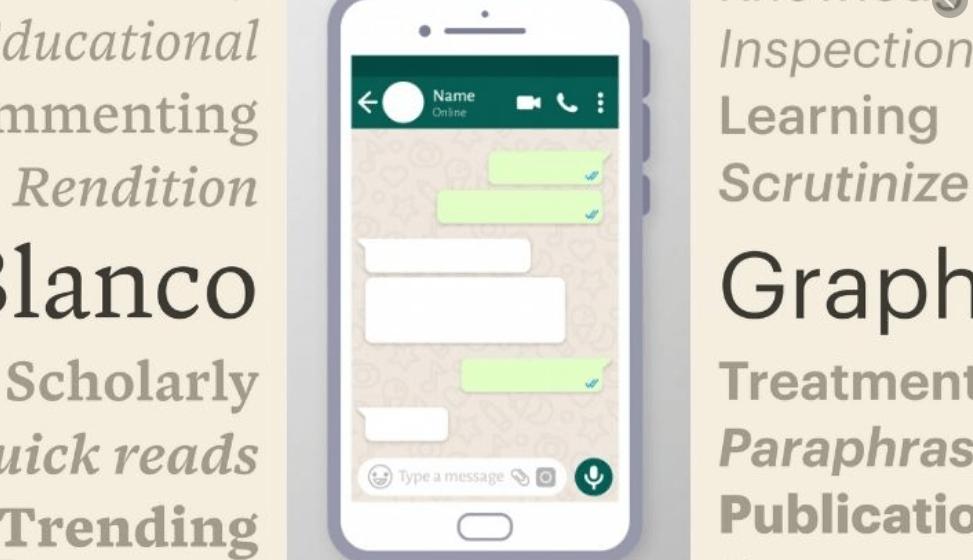 Change Font Style in WhatsApp
