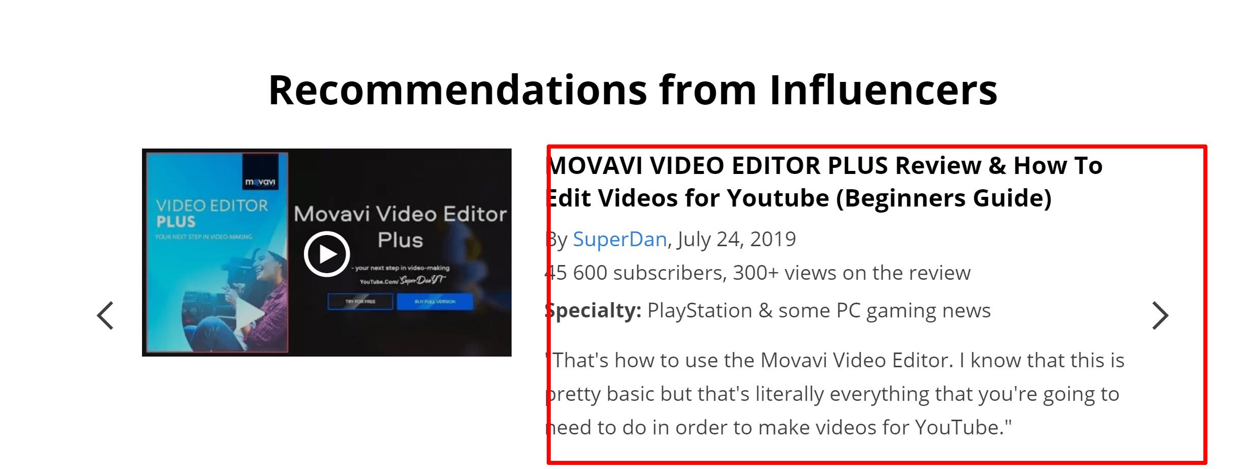 Movavi influencer reviews- Review of Movavi video editor