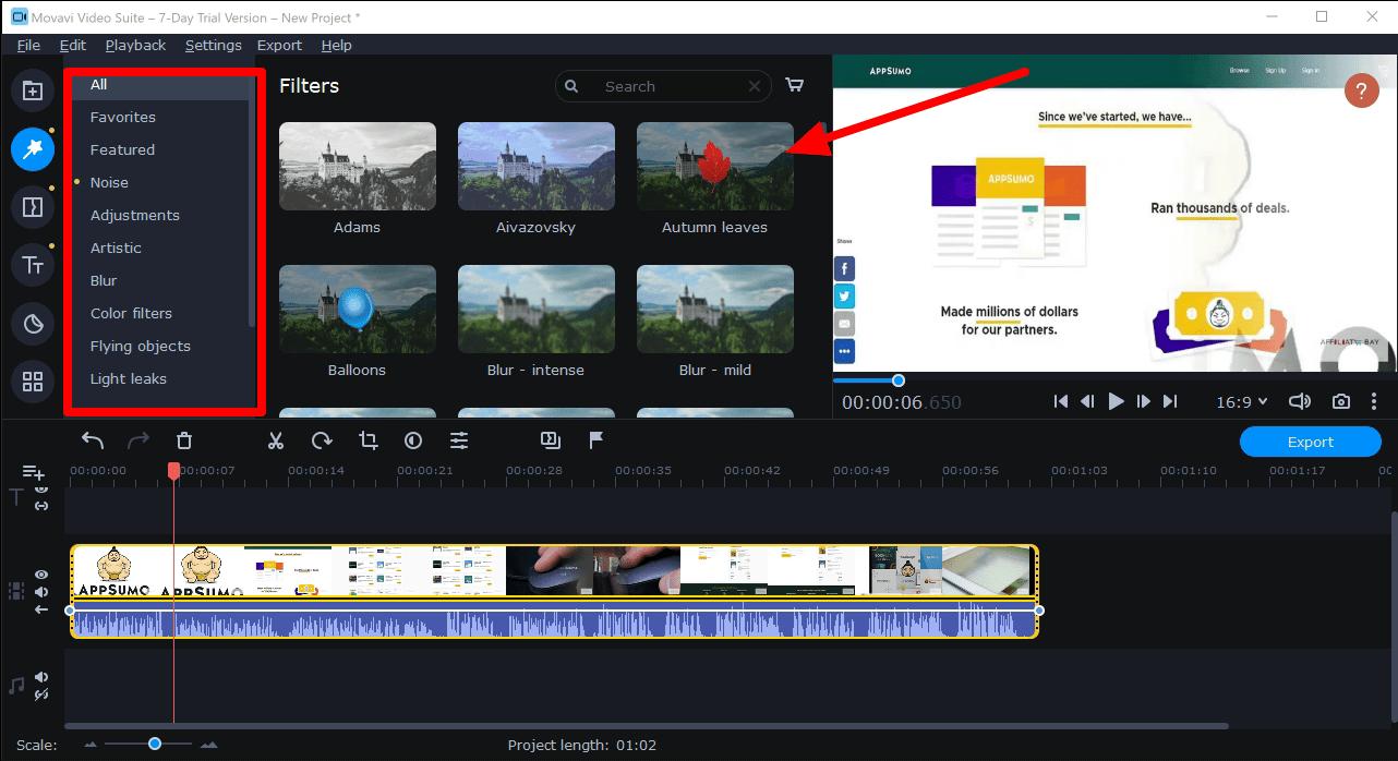 Movavi video filters- movavi video plus review