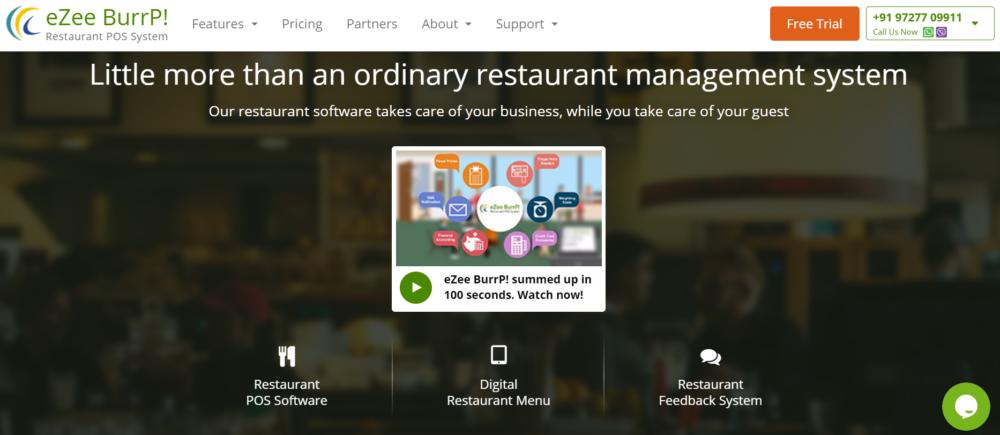 Restaurant POS Software eZee Burrp