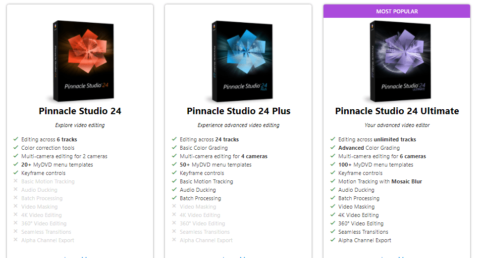 pinnacle studio pricing plan