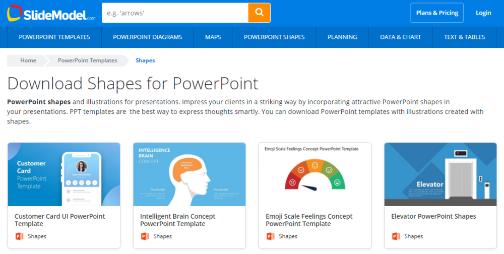 SlideModel Review : Shapes for PowerPoint