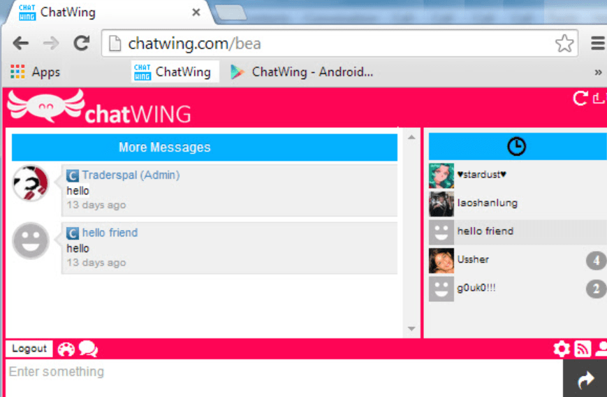 Chatwing Messages