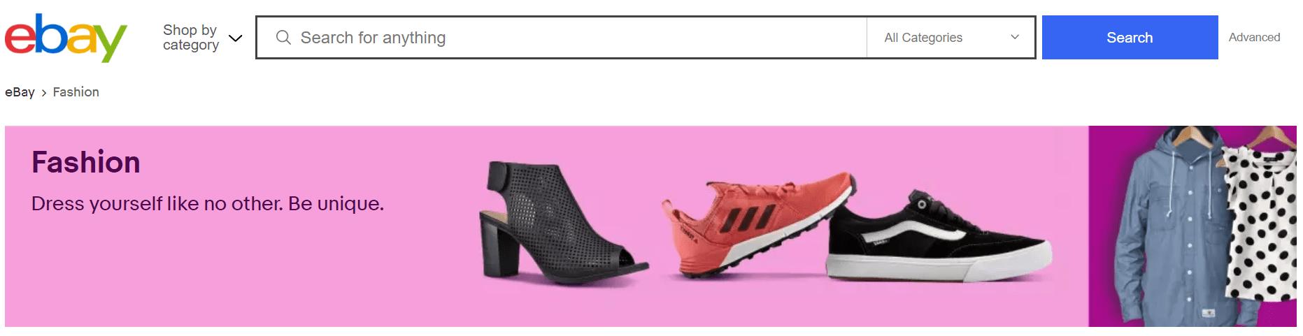 ebay fashion products