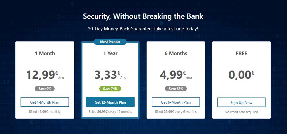Hide.Me VPN Pricing