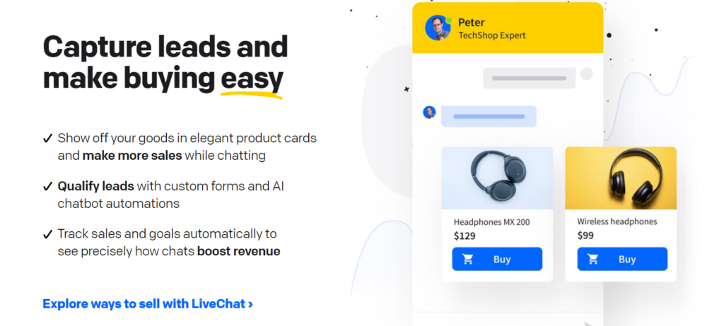 LiveChat Easy Buying