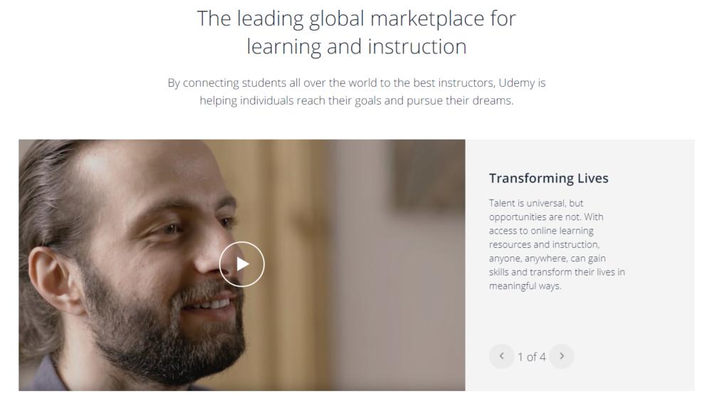 Udemy leading marketplace