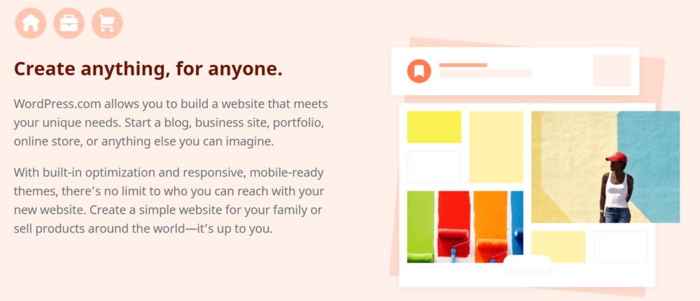 WordPress Create anything