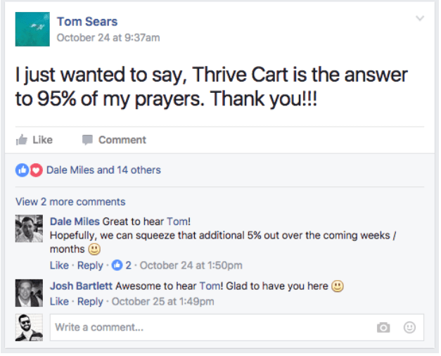 ThriveCart user reviews