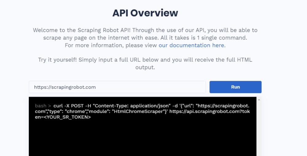 Scraping Robot Review - API