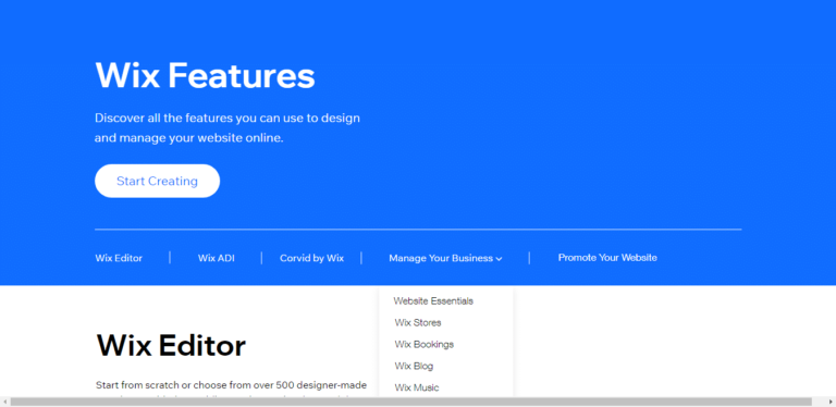 Wix-Features