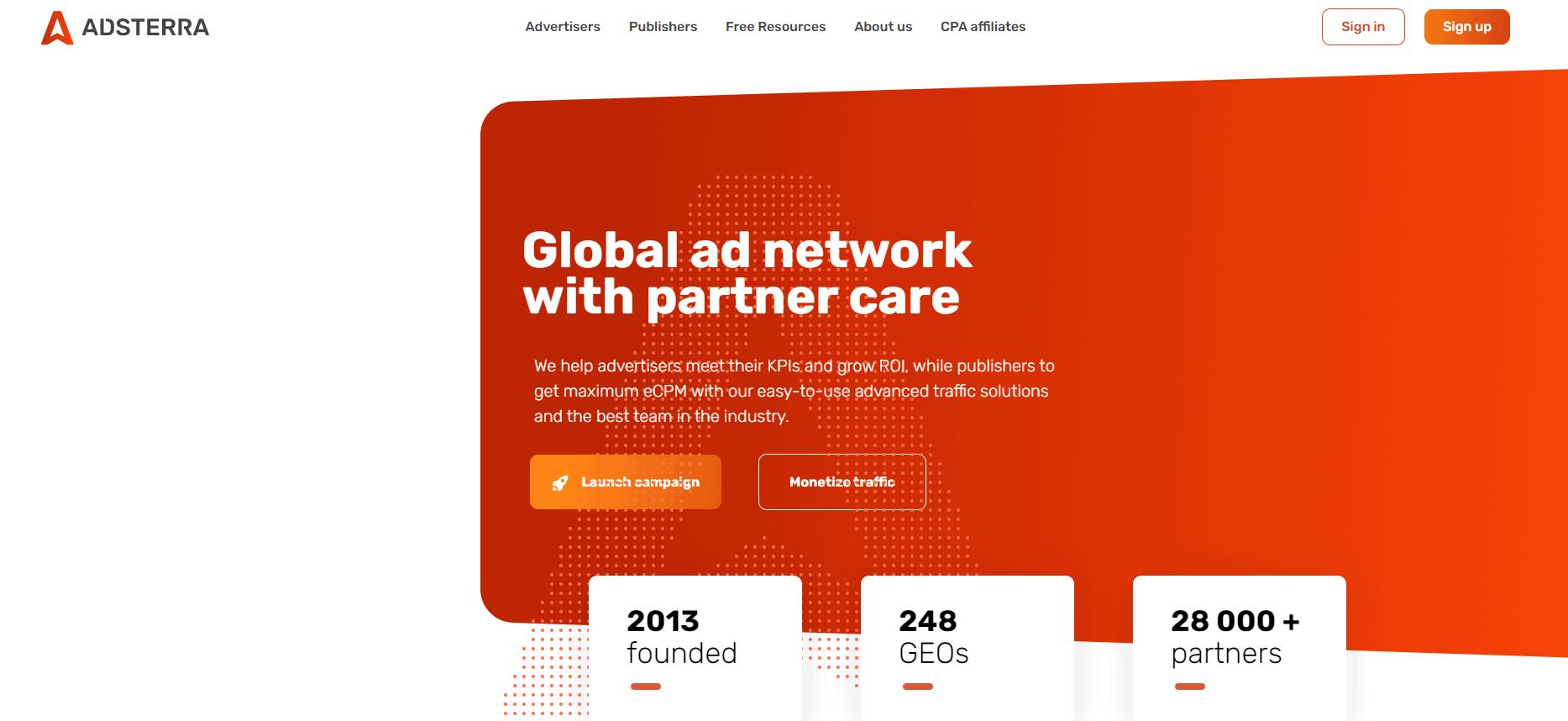 Best Ad Network - Adsterra