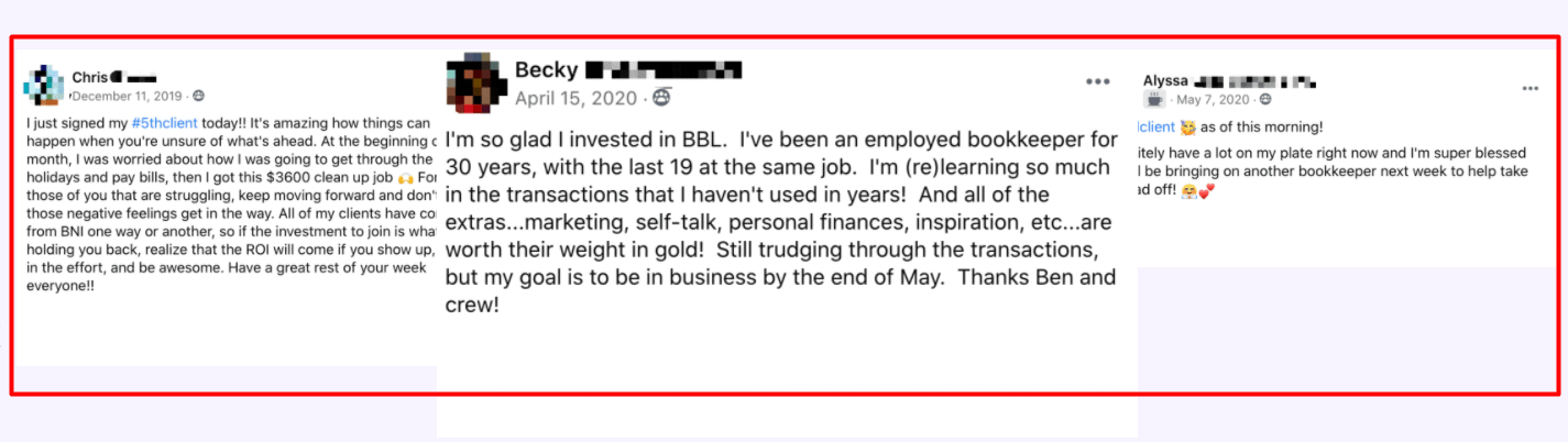 Bookkeeper Success Stories 3