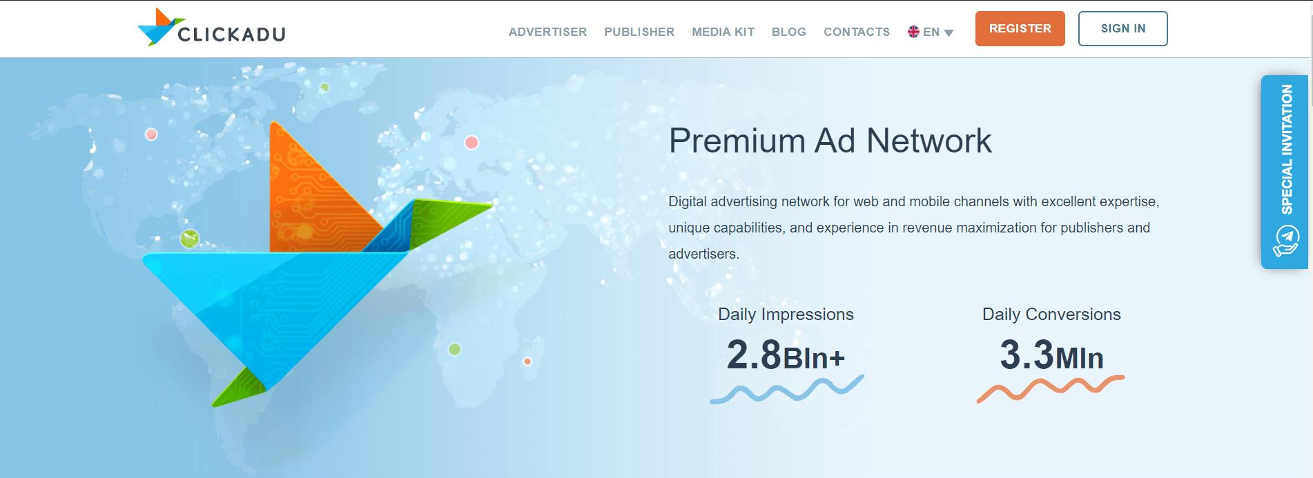 Best Ad Network - Clickadu