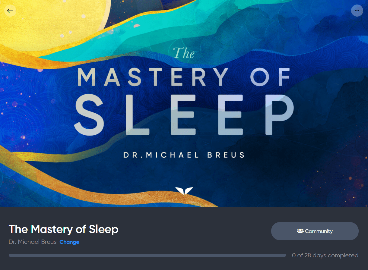Mastery Of Sleep - Mindvalley Review