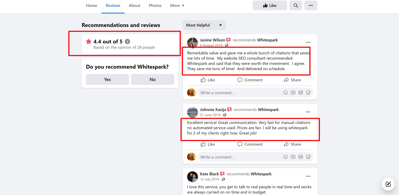 Whitespark reviews and testimonials