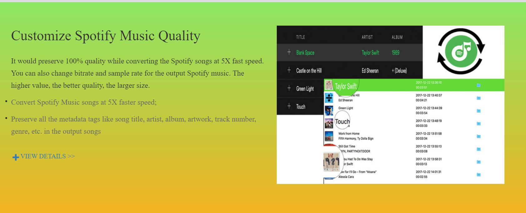 UkeySoft Spotify Music Converter Customize