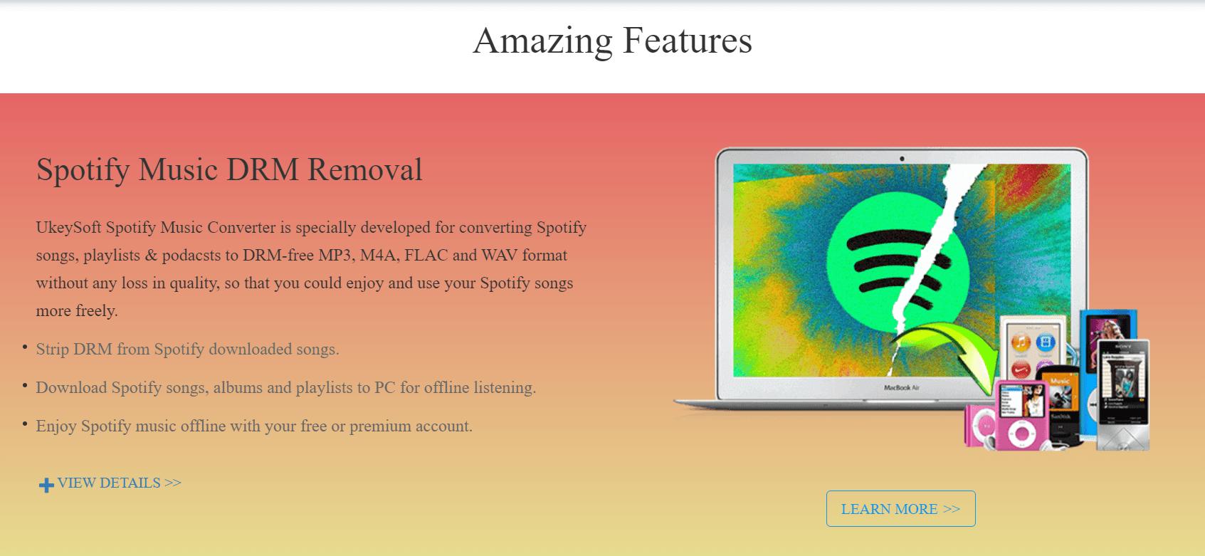 UkeySoft Spotify Music Converter DRM