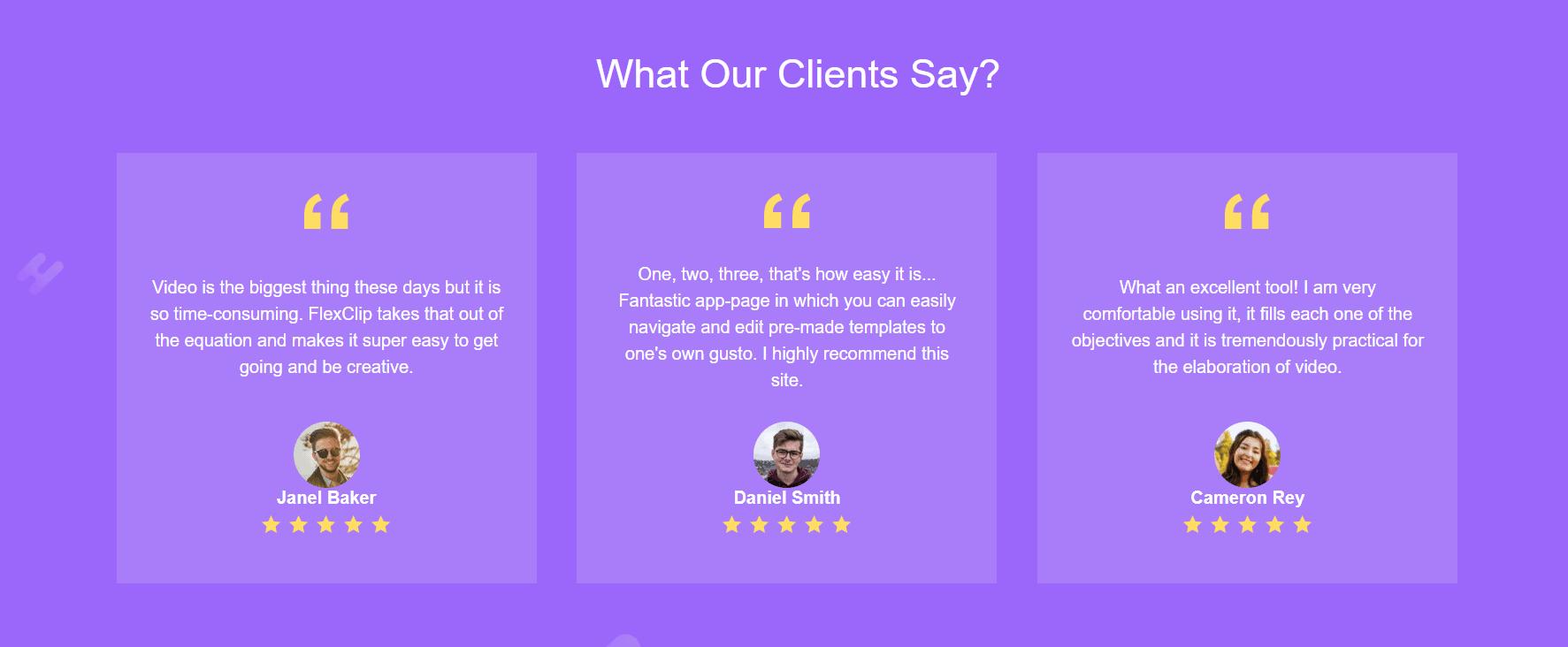 Flexclip testimonials