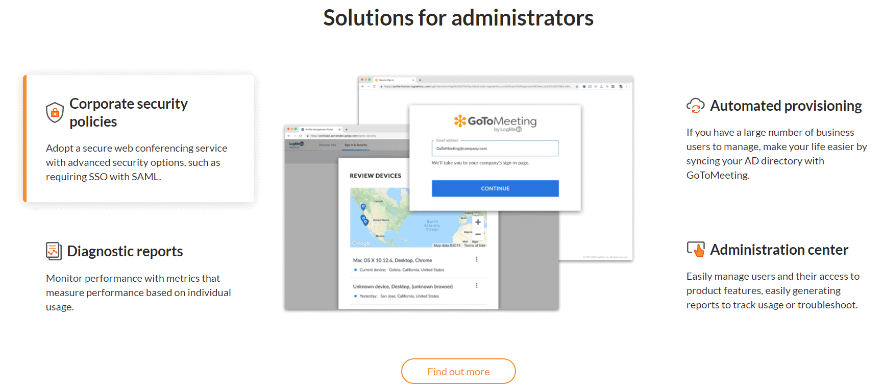 GotoMeeting Solutions for administrators