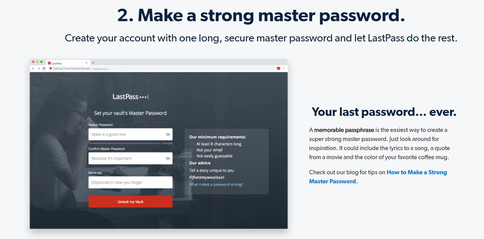 Make a strong master password.