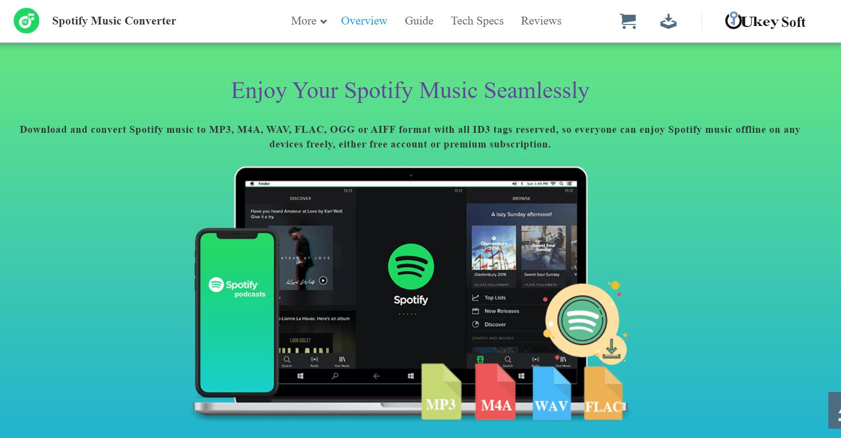 UkeySoft Spotify Music Converter mp3