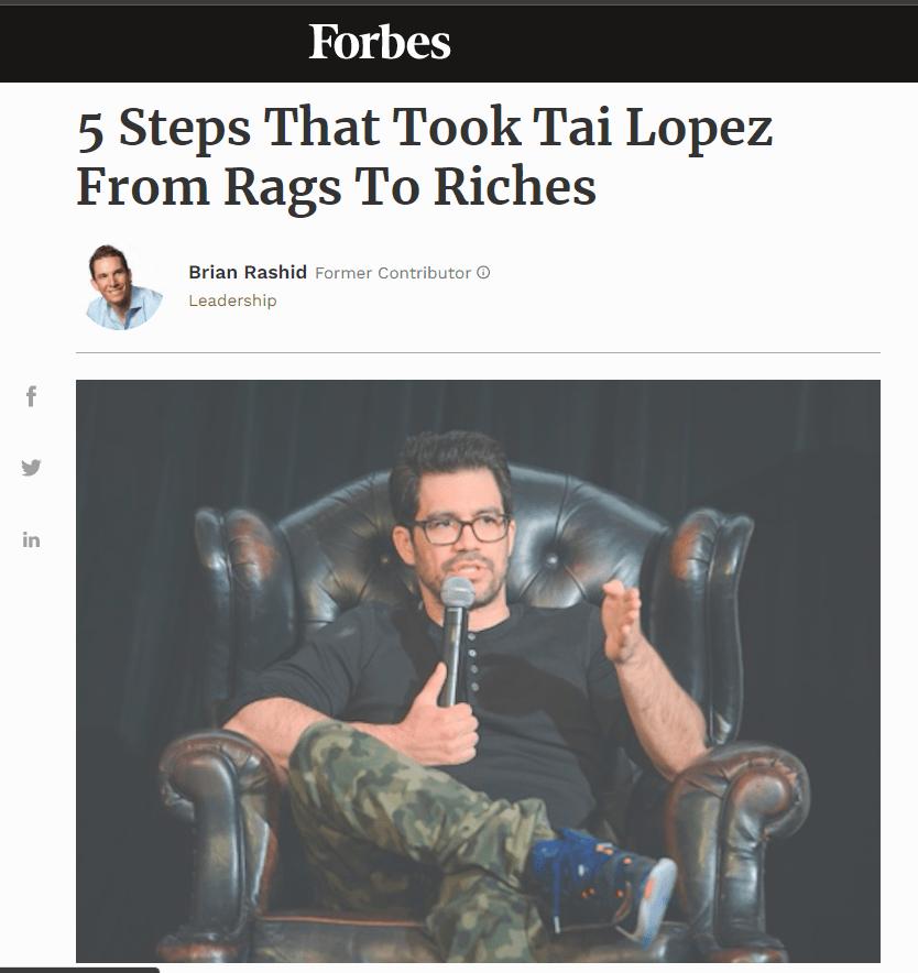 Tai Lopez on Forbes