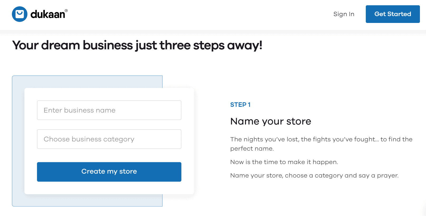 start your store