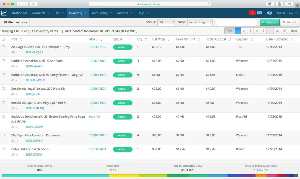 Inventory lab stratify review