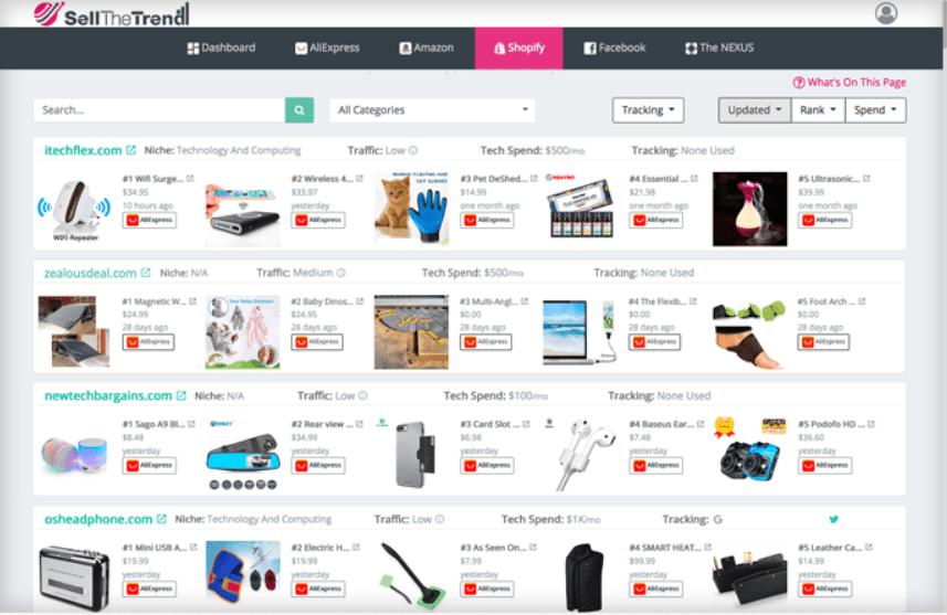 Shopify Store Explorer